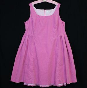 Bubblegum pink Corduroy Dress by Isaac Mizrahi